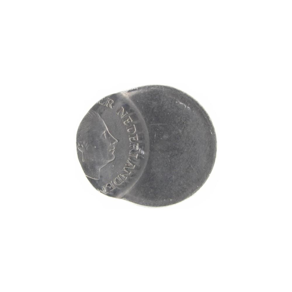 Misslag: 25 cent 1980 zwaar excentrisch geslagen