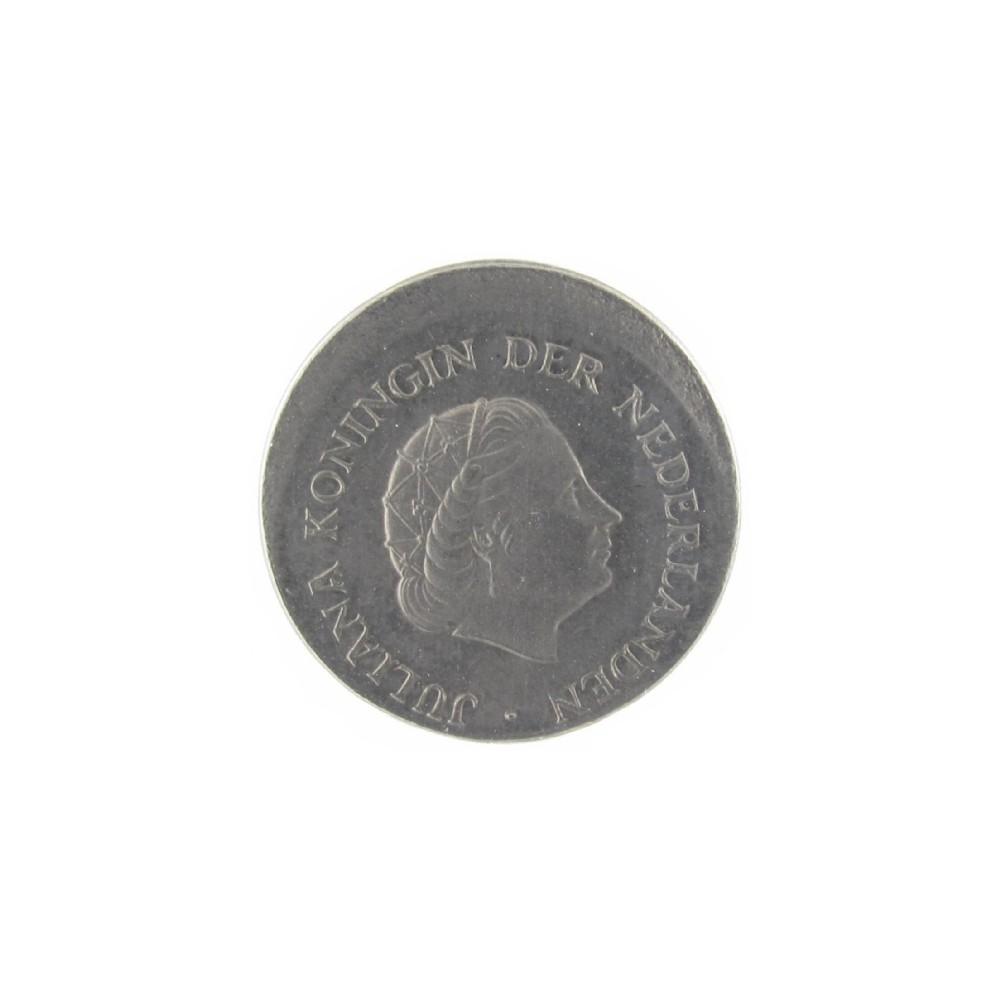 Misslag: 25 cent 1977 excentrisch geslagen
