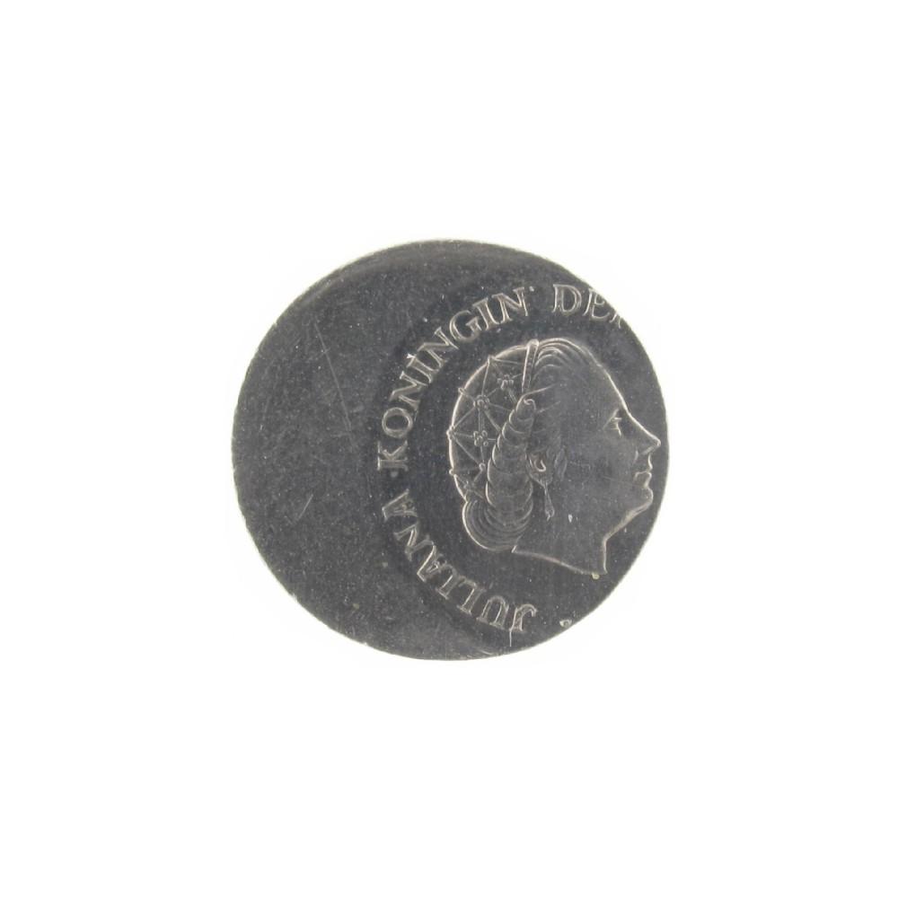 Misslag: 25 cent Z.j zwaar excentrisch geslagen