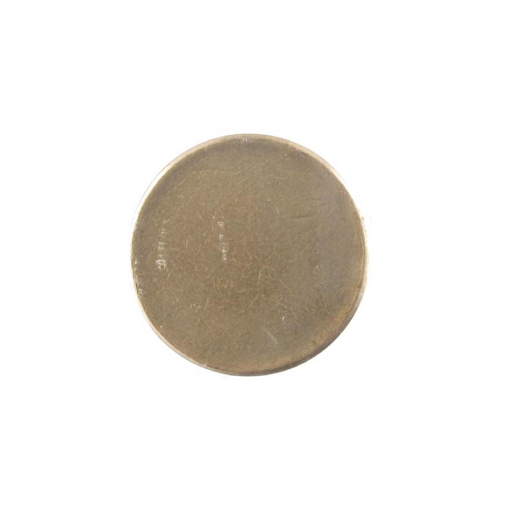 Misslag: 5 gulden zonder jaar muntplaatje met randschrift, zonder kartelrand