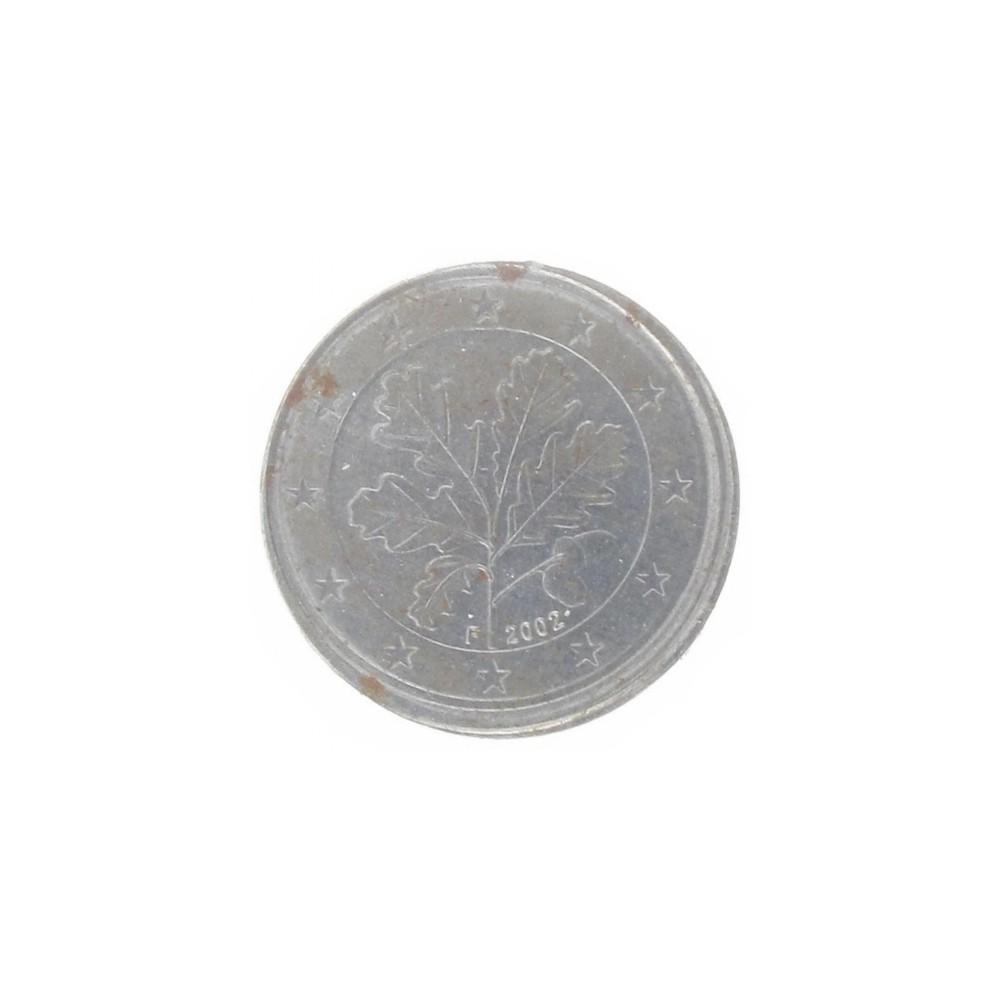 Misslag: 2 eurocent 2002 F Duitsland geslagen op ander materiaal