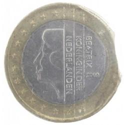 Misslag: 1 euro 2000 Nederland, einde muntplaat