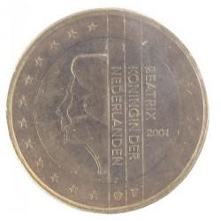Misslag: 1 euro 2001 Nederland, gouden kern