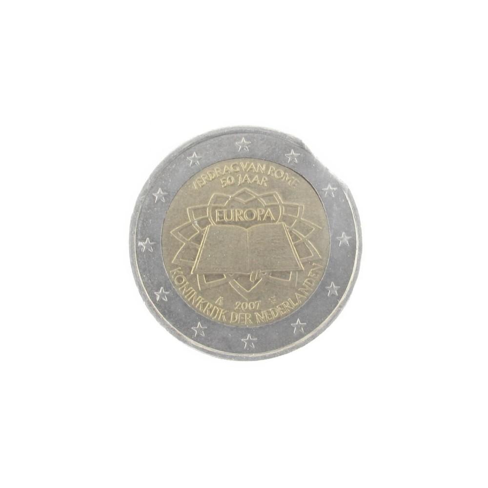 Misslag: 2 euro 2007 Nederland, strookeinde