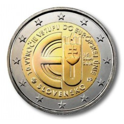 Slowakije 2 euro 2014 '10 jaar Europese Unie'