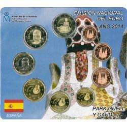 Spanje BU-Set 2014 'Park Guell, Gaudi' incl. 2 euro Gaudi