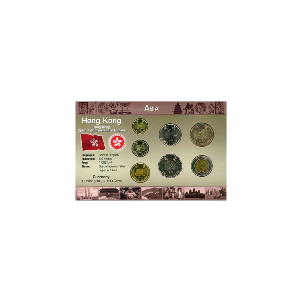 Azië Hong Kong Wereldset type 3 | de Hong Kongse Dollar