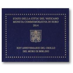 Vaticaan 2 euro 2014 in blister 'Berlijnse Muur'