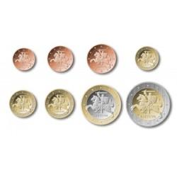 Litouwen serie euromunten op jaartal