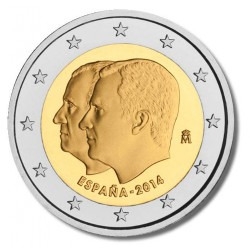 Spanje 2 euro 2014 'Dubbelportret'