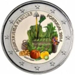 T1 Portugal 2014 - 2 euro 'Boerenfamilie'