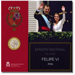 Spanje BU-Set 2015 'Felipe VI' incl. 2 euro Cave of Altamira
