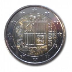 Andorra 2 euro 2014 'Wapen van Andorra' circulatiemunt