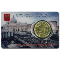 Vaticaan 50 cent 2015 in coincard nr. 6