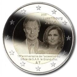Luxemburg 2 euro 2015 '15 jaar troonsbestijging Groothertog Henri'