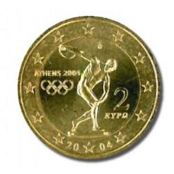 Griekenland 2 euro 2004 'Olympische Spelen in Athene' VERGULD