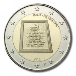 Malta 2 euro 2015 'Republiek 1974' (met Ned. muntteken)