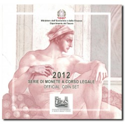 Italië BU-Set 2012 + speciale 2 euro '10 jaar euro' en 5 euro 'Sixtijnse Kapel'