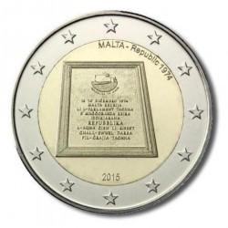 Malta 2 euro 2015 'Republiek 1974' (zonder Ned. muntteken)