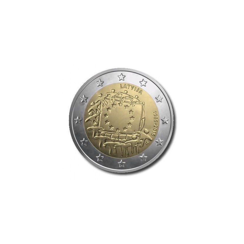 Letland 2 euro 2015 '30 jaar Europese vlag'