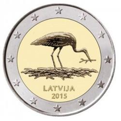 Letland 2 euro 2015 'Zwarte Ooievaar'