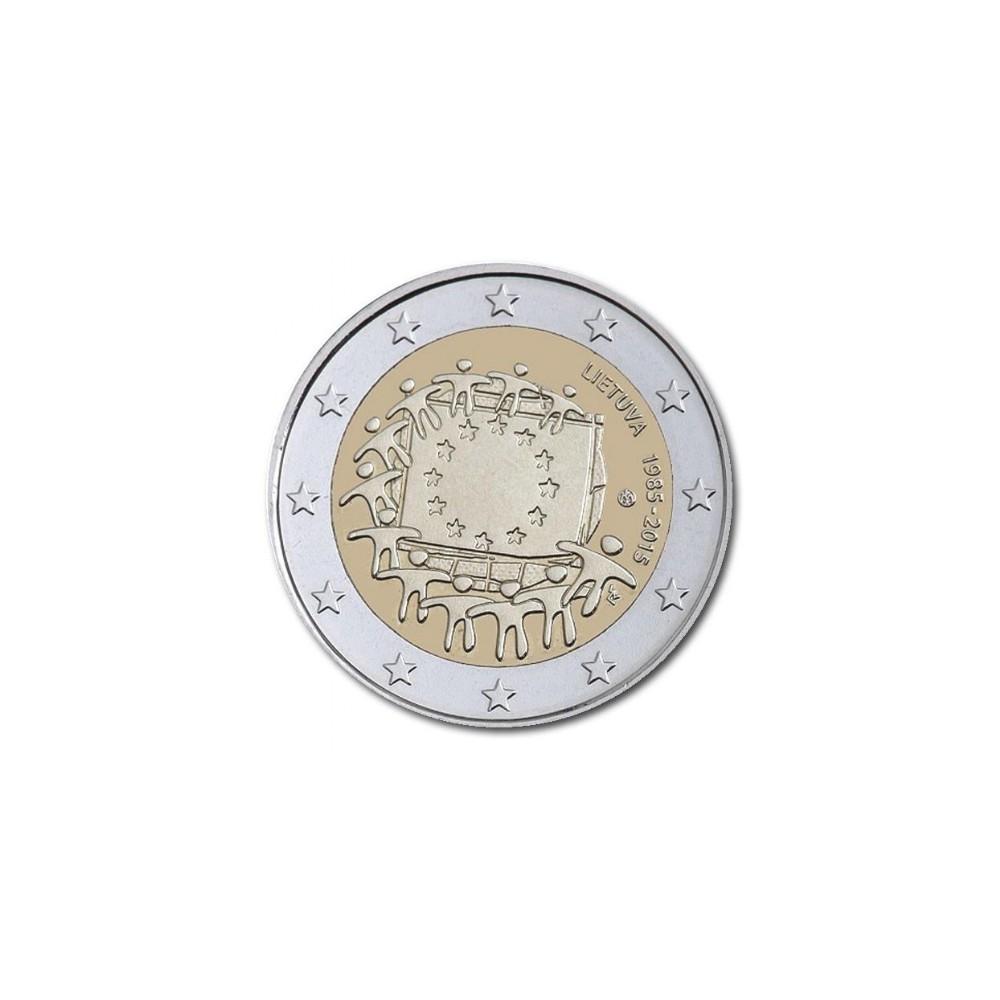 Litouwen - Lietuva (Lithuania) 2 euro 2015 '30 jaar Europese vlag'