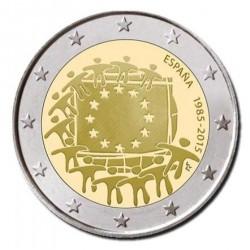 Spanje 2 euro 2015 '30 jaar Europese vlag'