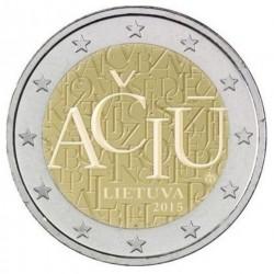 Litouwen - Lietuva (Lithuania) 2 euro 2015 'Litouwse Taal'