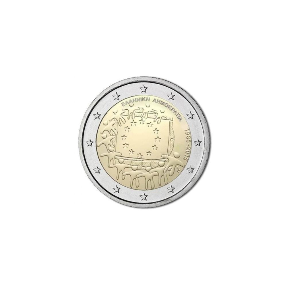 Griekenland 2 euro 2015 '30 jaar Europese vlag'