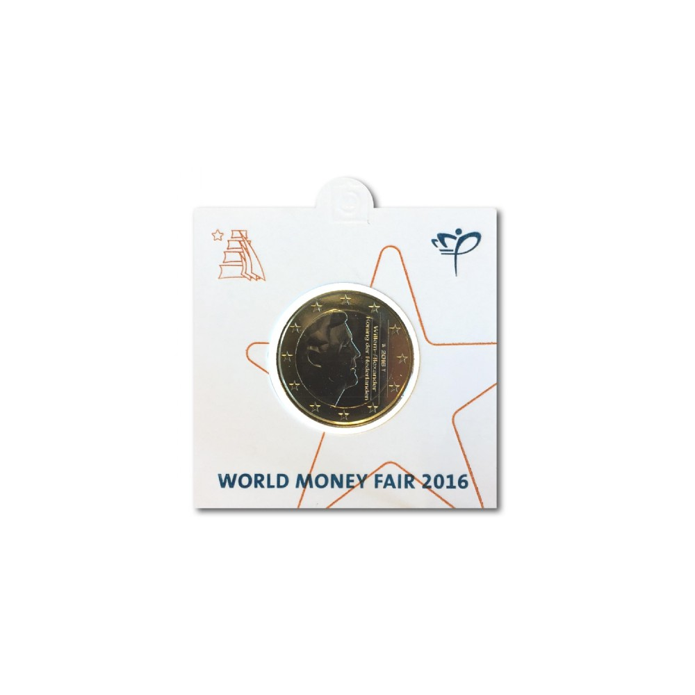 Officiële munthouder 1 euro 2016 'World Money Fair Berlijn'