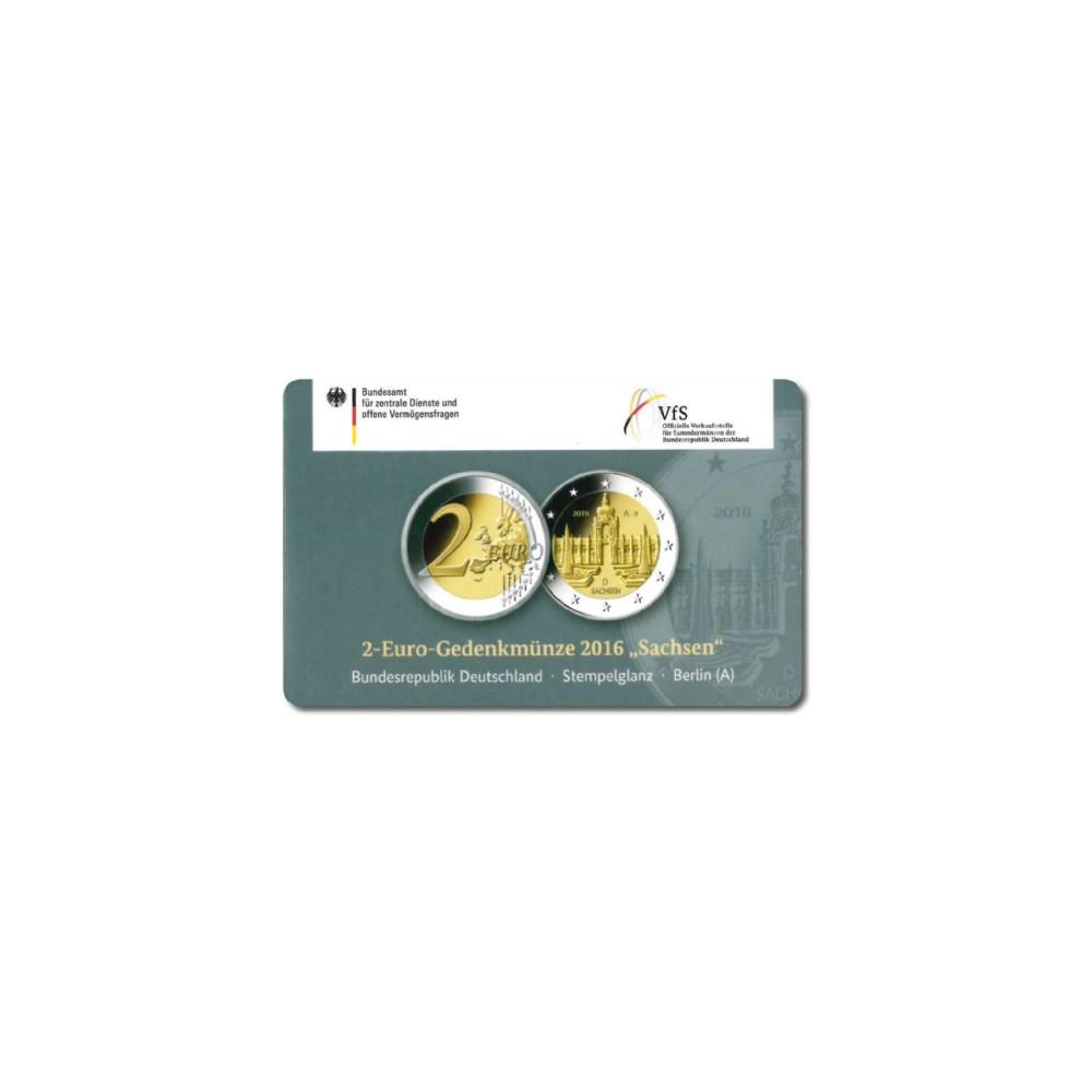 Duitsland 2 euro 2016 'Sachsen' - willekeurige letter