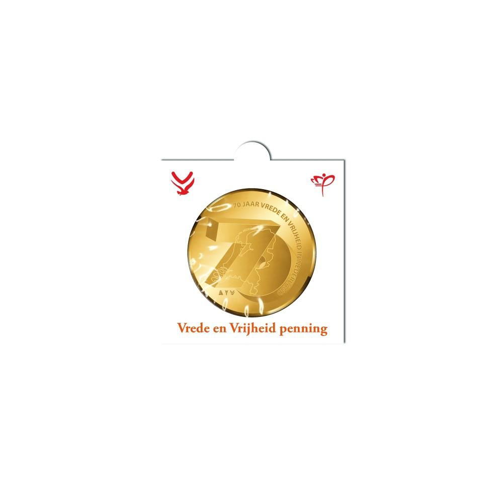 Officiële penning in munthouder 2015 'Vrede en Vrijheid'