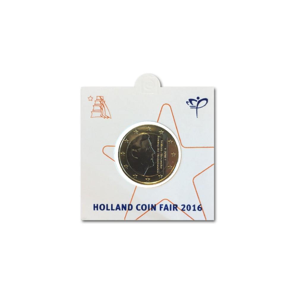Officiële munthouder 1 euro 2016 'Holland Coin Fair'