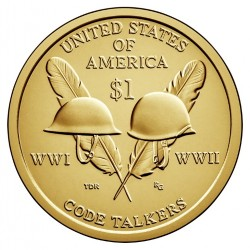 USA $1 Native Dollar 2016 'Code Talkers' WWII