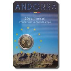 Andorra 2 euro 2014 'Raad van Europa' coincard