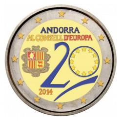 Andorra 2 euro 2014 'Raad van Europa' in kleur