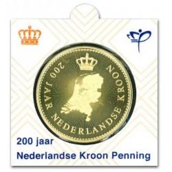 Officiële penning in munthouder 2016 '200 jaar Nederlandse Kroon'