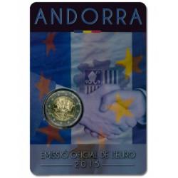 Andorra 2 euro 2015 '25 jaar Douane'