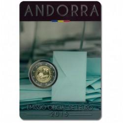 Andorra 2 euro 2015 'Stemrecht'