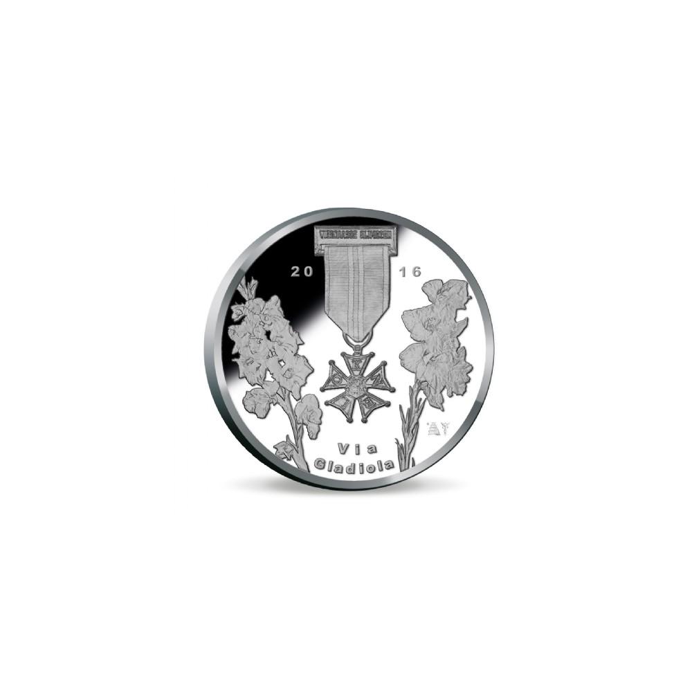 Nederland 100ste Nijmeegse Vierdaagse penning 2016 BU-kwaliteit in coincard, nu van €79,- voor slechts