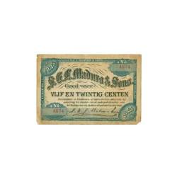 Curaçao S.E.L. Maduro & Sons 25 cent