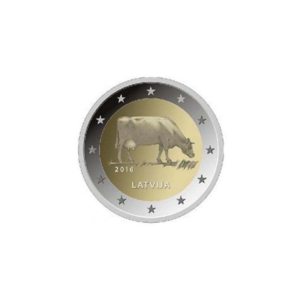 Letland 2 euro 2016 'De Koe'