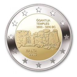 Malta 2 euro 2016 'Ggantija Tempels' mét F in onderste ster