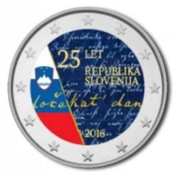 Slovenië 2 Euro 2016 'Onafhankelijkheid' in kleur