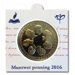Officiële penning in munthouder 2016 '200 jaar Muntwet'