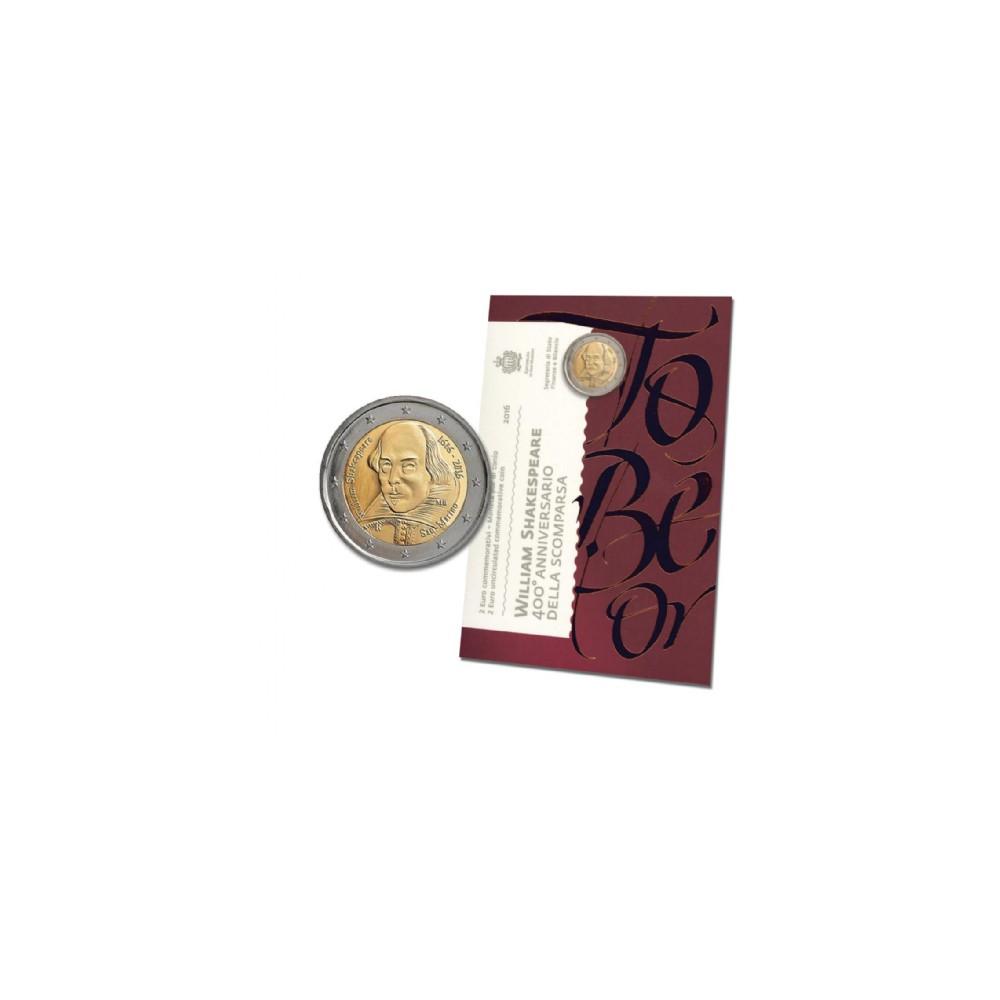 San Marino 2 euro 2016 in blister 'William Shakespeare'