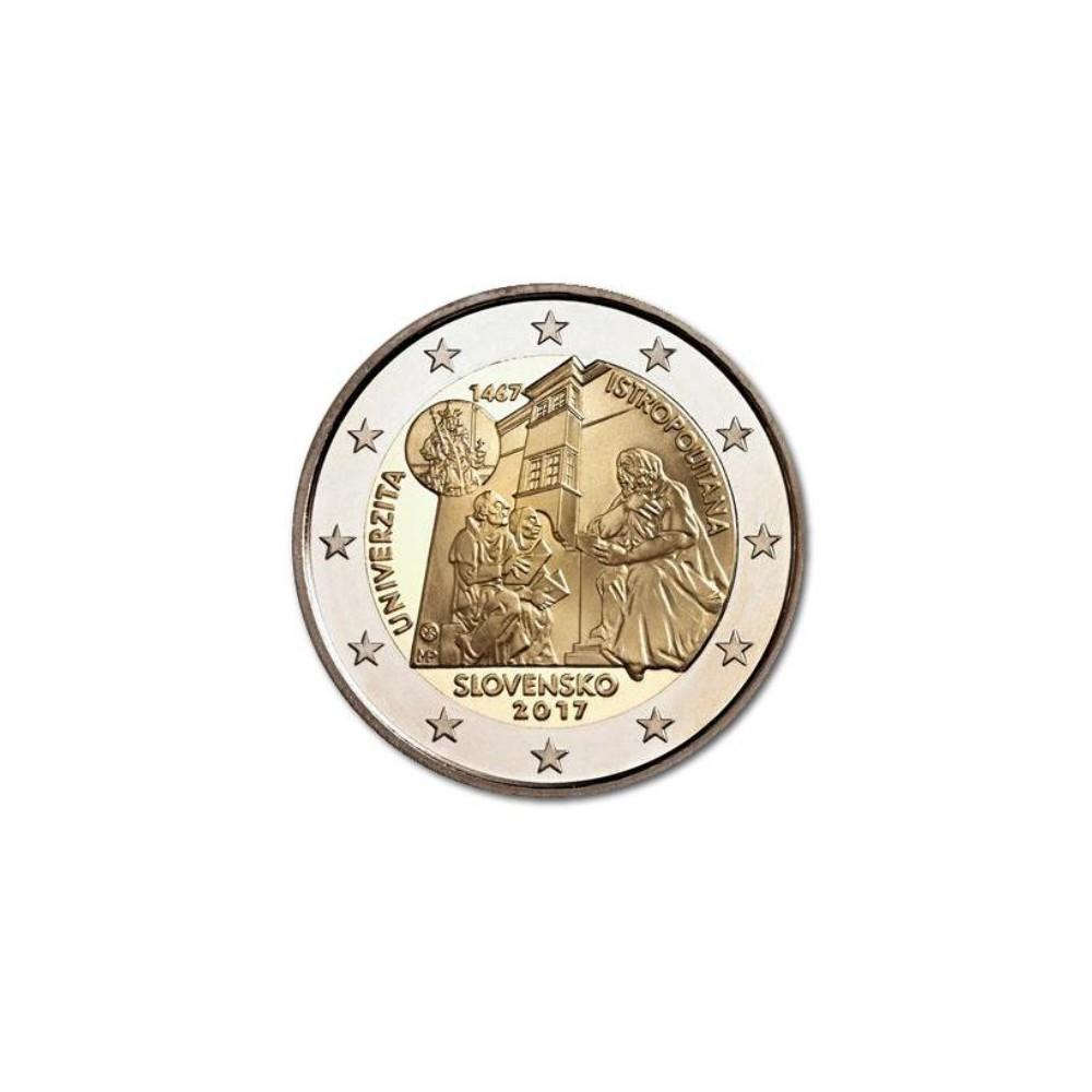 Slowakije 2 euro 2017 '550 jaar Academia Istropolitana'