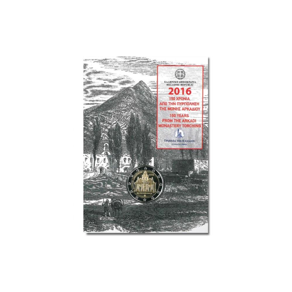 Griekenland 2 euro 2016 'Arkadi klooster' in coincard