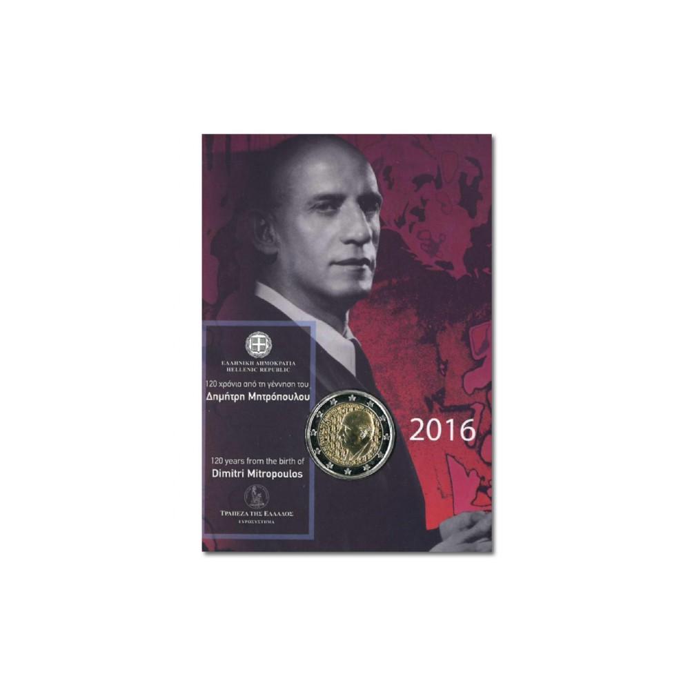 Griekenland 2 euro 2016 'Dimitri Mitropoulos' in coincard