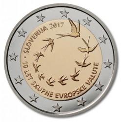 Slovenië 2 euro 2017 '10 jaar euro in Slovenië'